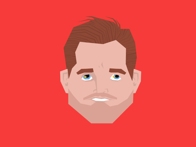 Goose detroit red wings vector illustration face hair nyquist