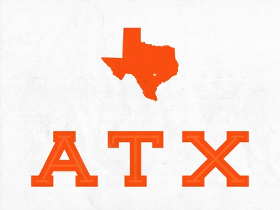 KRW x ATX austin texas type vector texture