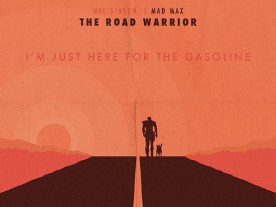 Mad Max: The Road Warrior mad max movie illustration poster dog road warrior vector