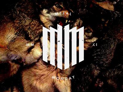 Metal Monday monday wolves website music metal vector logo