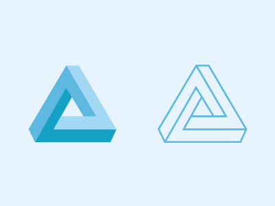 Impossible Shape impossible shape triangle dimension vector illustration
