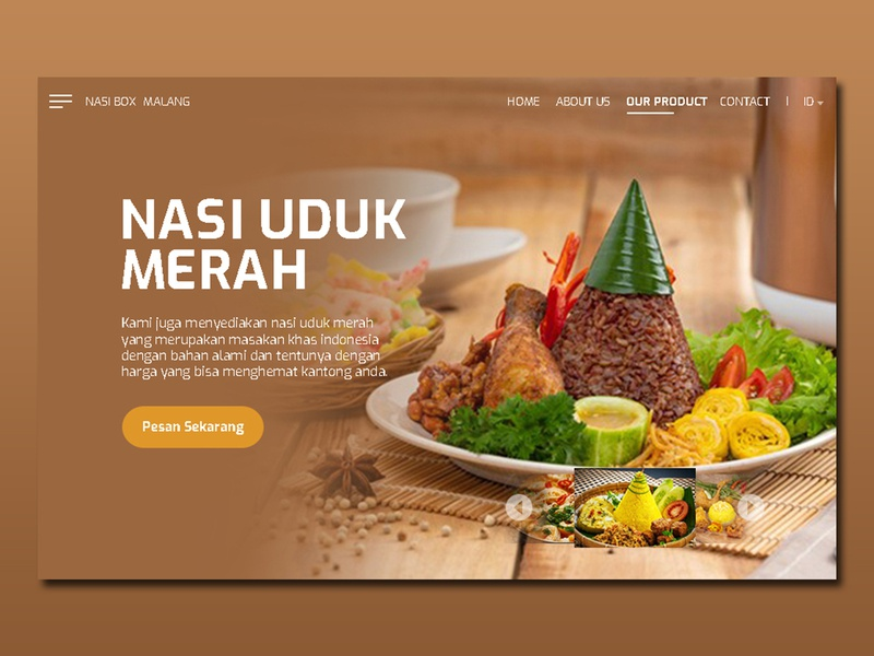 web design nasi box malang