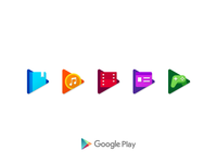 Google Play Icons minimal mark identity icon flat emblem clean branding badge logo icons google