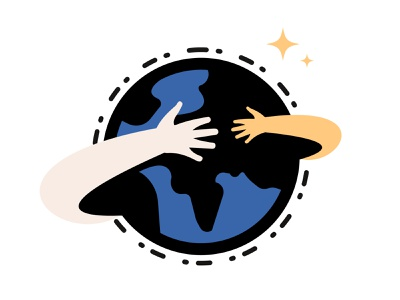 Charity/Earth/Nature Logo {For Sale} arms badge benefit buy care charity continents environment earth etsy icon hand help hug logo nature sale stars space travel