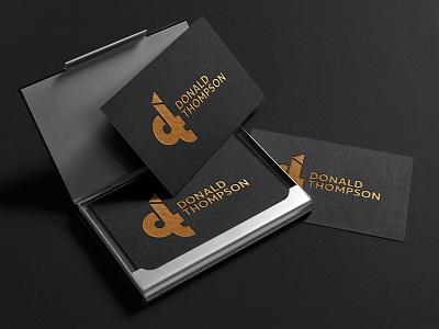 Donald Thompson ci gold dt logo card business card branding