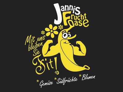 Fruit & Vegetable Store - Fruchtoase character flowers groceries grocery yellow banana vegetable fruit ci branding logo