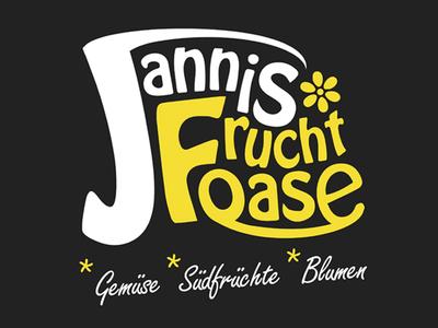 Fruit & Vegetable Store - Fruchtoase yellow vegetable logo grocery groceries fruit flowers ci character branding banana