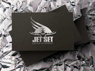 Jet Set Entertainment stationery logo branding business card card business ci film entertainment plane set jet