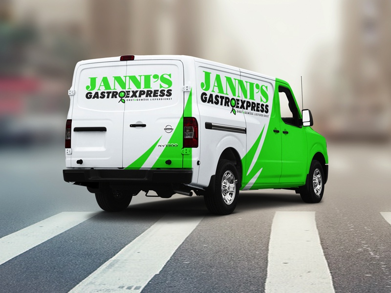 Jannis Gastro Express express olive fresh card business branding food logo gastronomy