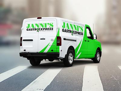 Jannis Gastro Express express olive fresh card business branding food logo gastronomy