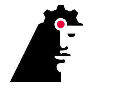 Game Company Logo Concept tech video games entertainment pc game branding logo strategy games mech mechanism factory