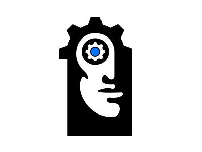 Game Company Logo {For Sale} android gear silhouette eye face for sale buy logo buy tech video game entertainment pc game branding logo strategy games mech mechanism factory