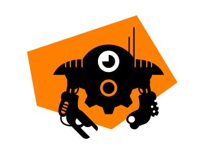 Mech/Tech/Game Logo {For Sale} robot logistics it hack construction bionic android ai repair gear cyber future eye drone tech entertainment logo games mech factory