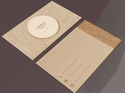 Business Card Design Cedar Cup designs designer mockup graphic design branding adobe illustrator adobe logo business cards business card design