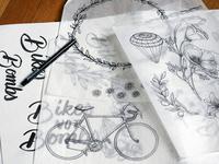 Bikes Not Bombs illustrations