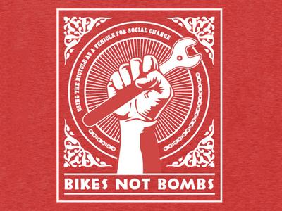 Bikes Not Bombs t-shirt