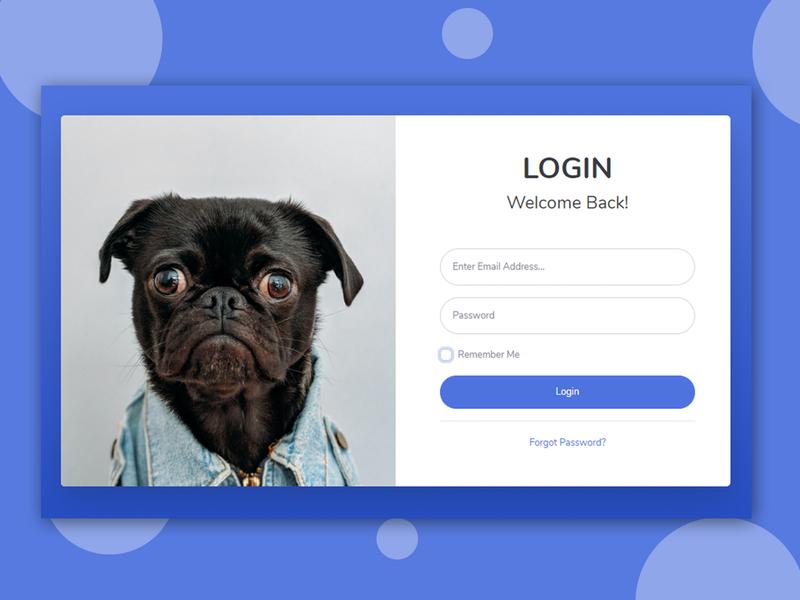 Flat Login Page login page design login screen login page flat design