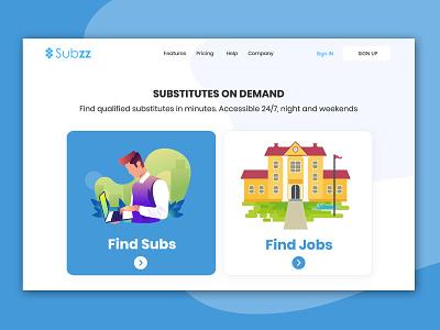 SUBZZ - AUTOMATED SUBSTITUTE MANAGEMENT SOFTWARE education landing page online teacher education website online education online teaching