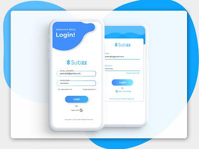 Mobile UI login design login screen mobile app design mobile app mobile ui