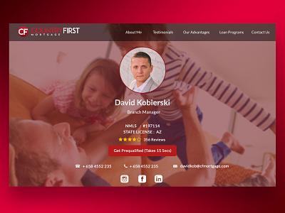 Personal Portfolio Website flat design website design landing page design realestateagent realestate portfolio design portfolio page
