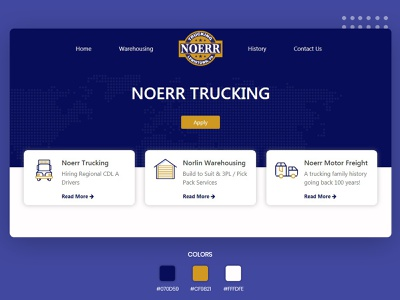 Trucking Website with flat layouts bootstrap4 trucking