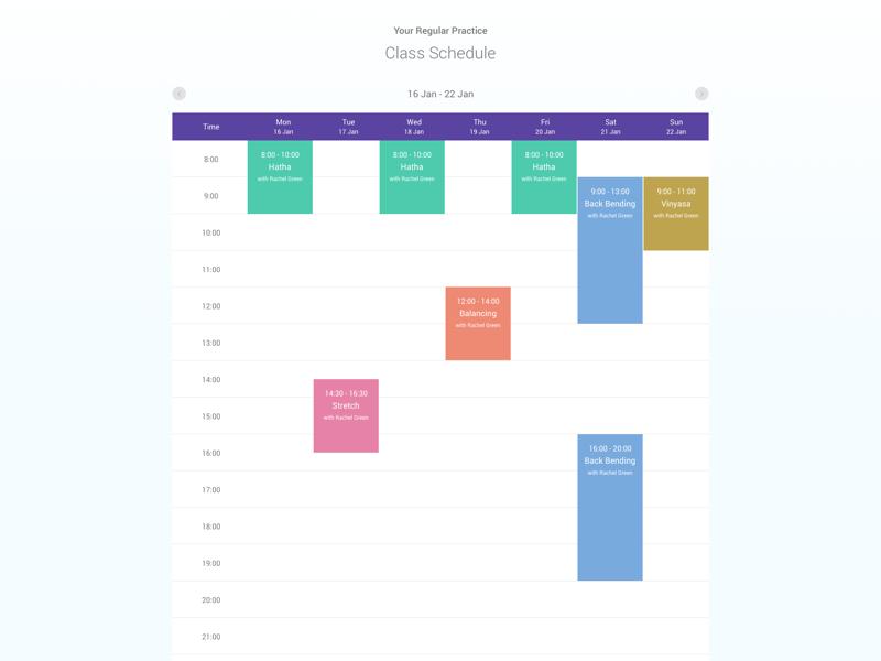 Schedule schedule calendar mockup