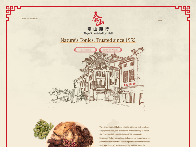 Traditional Chinese Medicine Online Shop mockup