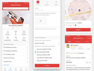 On-demand services app