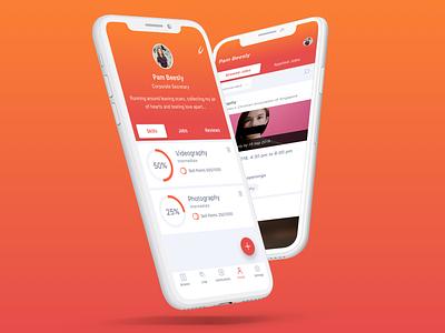 App for Volunteering mock up social app social volunteer