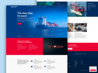 Forwarder Website Concept concept mock up corporate user interface landing page mockup
