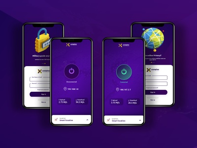 VPN app. uxui app ui ux user interface design user interface userinterface user experience uiux design