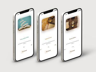 eBook app onboarding books book ebook ux design uxdesign onboard onboarding ux  ui app uxui ux user interface design user interface userinterface user experience uiux design ui
