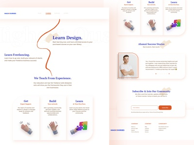 Courses website concept branding graphic design uxui website design website courses ux research ux design illustration user interface userinterface user experience design uiux ux ui