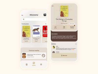 Ebook app concept ux design mobile uxdesign user interface design app uxui landing borrow ebook book branding logo illustration ux user interface userinterface user experience uiux ui design