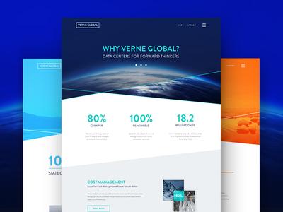 VG Website data center web design lines ux intersection earth angles globe branding iceland website
