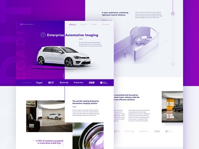 Autoload IT Website landing page fixed scroll web design website ux ui photography car 360 3d gradient automotive