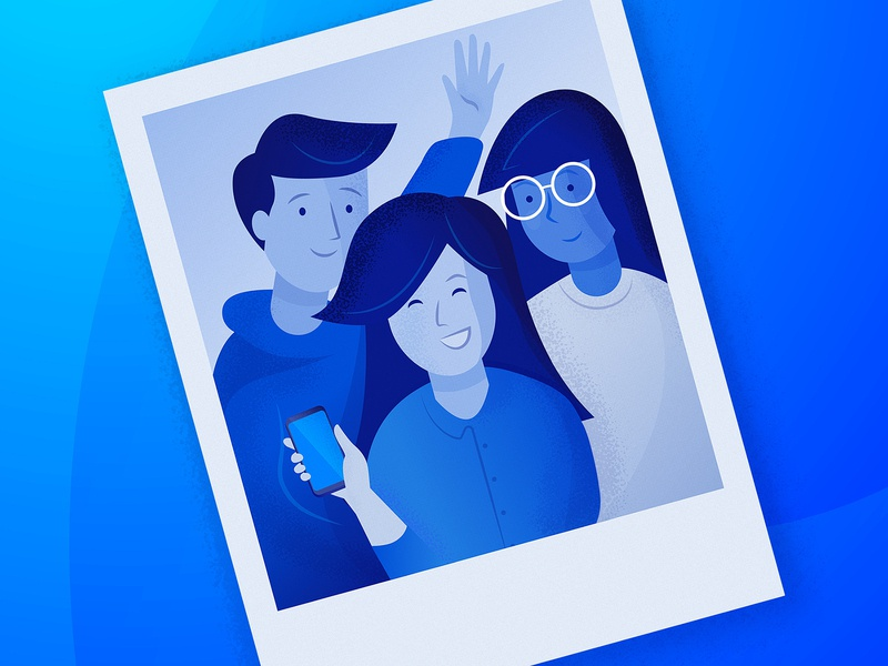 so-sure - Character Illustration blue insurance vector start up mobile insurance illustration london connect texture friends people character photo polaroid branding