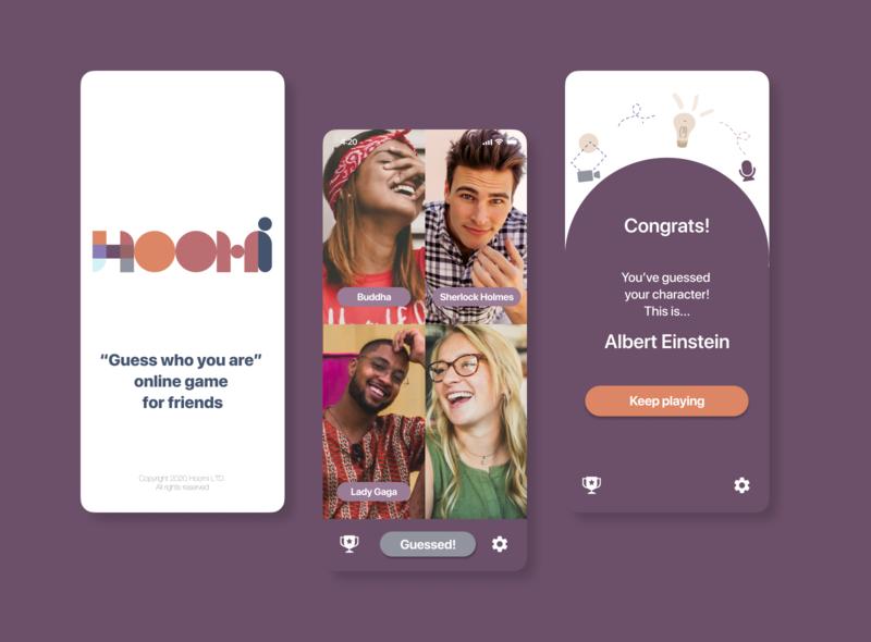 Hoomi game mobile app video app app ui mobile figma application design app design ux ui game