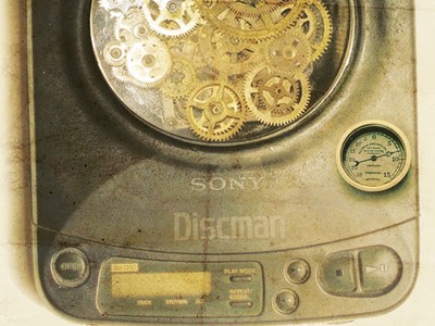 Steampunk Discman steampunk design graphic photoshop discman 90s past