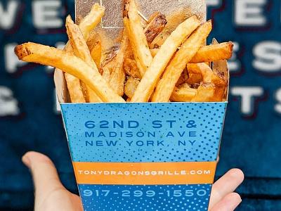 Tony Dragon's Grille - Food Truck Branding food industry nyc greek food fries packaging mark logo branding food food truck
