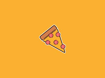 Pizza Sticker  ui sticker illustration vector pizza stickermule