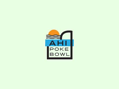 Ahi Poke Bowl type mark branding logo poke ahi