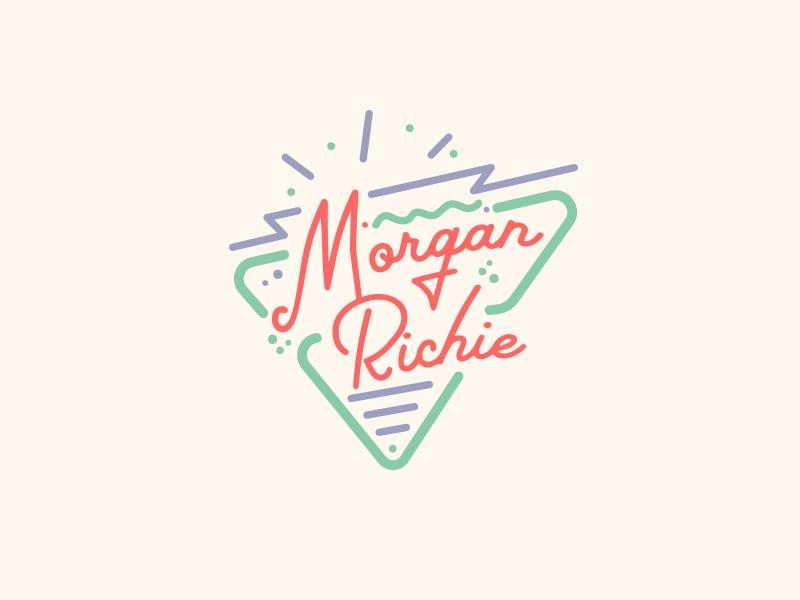 Morgan Richie branding color pop lines vintage retro badge lockup mark logo