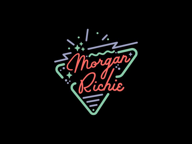 Night Moves vintage retro pop mark logo lockup lines color branding badge night neon