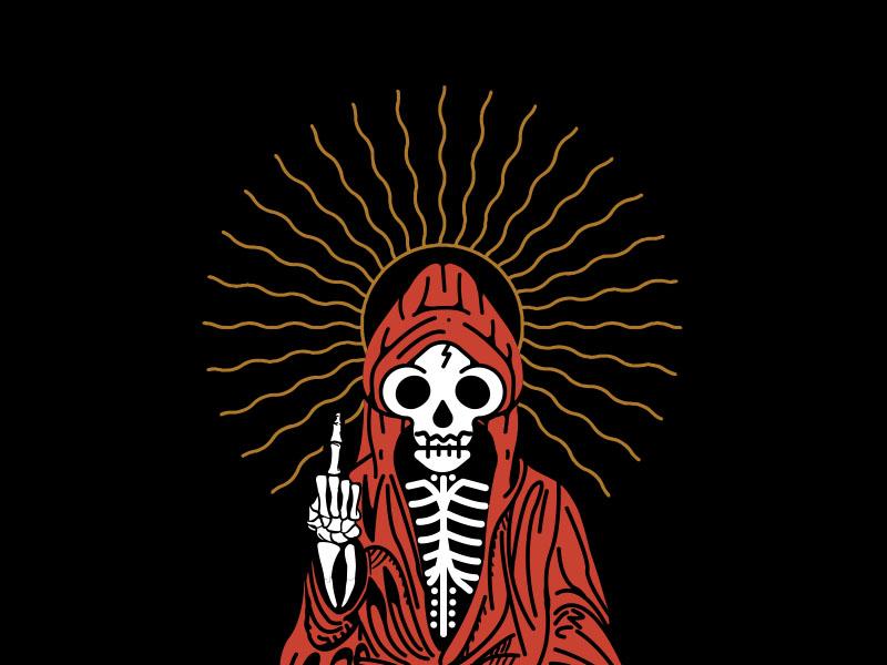 Zero Fucks To Give robe reaper skeleton skull sun idol