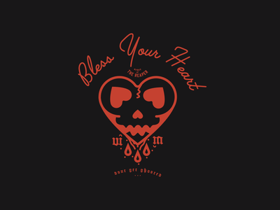 Bless Your Heart lock up ghosted the lover blood bless heart apparel
