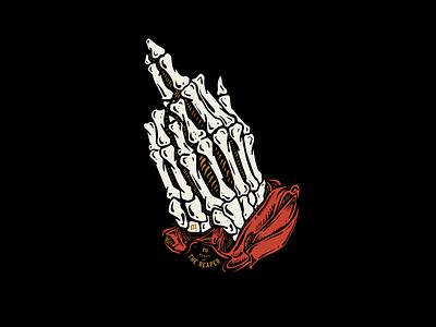 PRAYERS illustration prayers hands skull bones skeleton