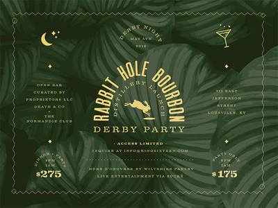 RABBIT HOLE BOURBON DERBY PARTY