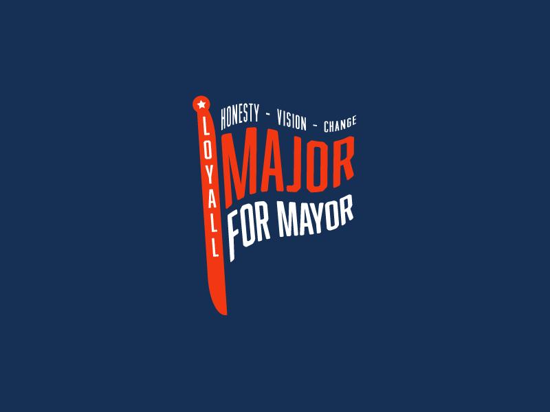 Major for Mayor typography text flag democratic mayor politics kentucky