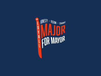 Major for Mayor typography text flag democratic mayor politics kentucky